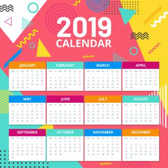 Abstract graphic calendar