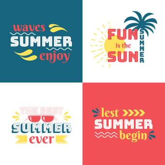 Four summer wind logos