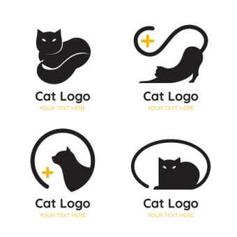 Кошка с логотипом