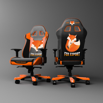 Fox patterned chair