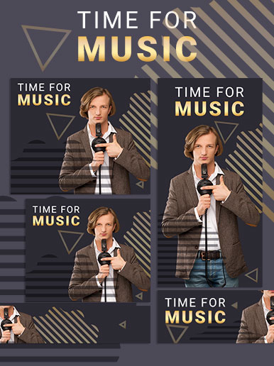 Music time web banner