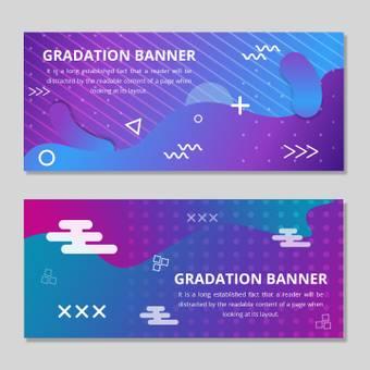 Gradation banner