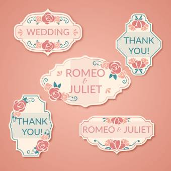 Wedding logo mark Rose