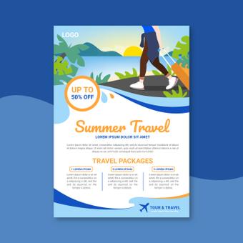 夏季旅行海报