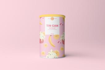 Canned mockup