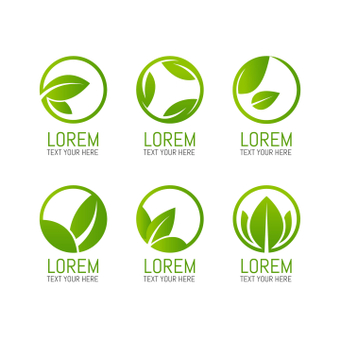 Leaf logo set