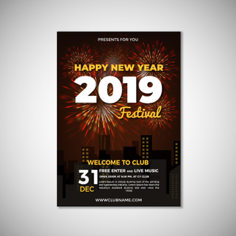 Poster happy new year festival